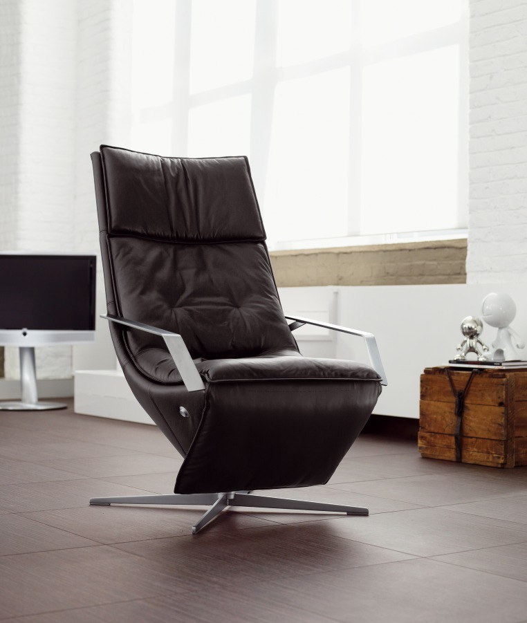 modern black leather recliner chair eames style good comfy chairs for small spaces | homesfeed