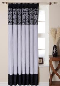 Elegant White Patterned Curtains