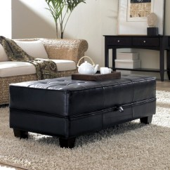 Ottoman Coffee Tables Living Room Small Paint Ideas Unique And Creative Tufted Leather Table Homesfeed Black For