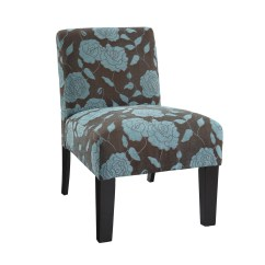 Blue Floral Chair Swivel Fabric What Is A Slipper Homesfeed