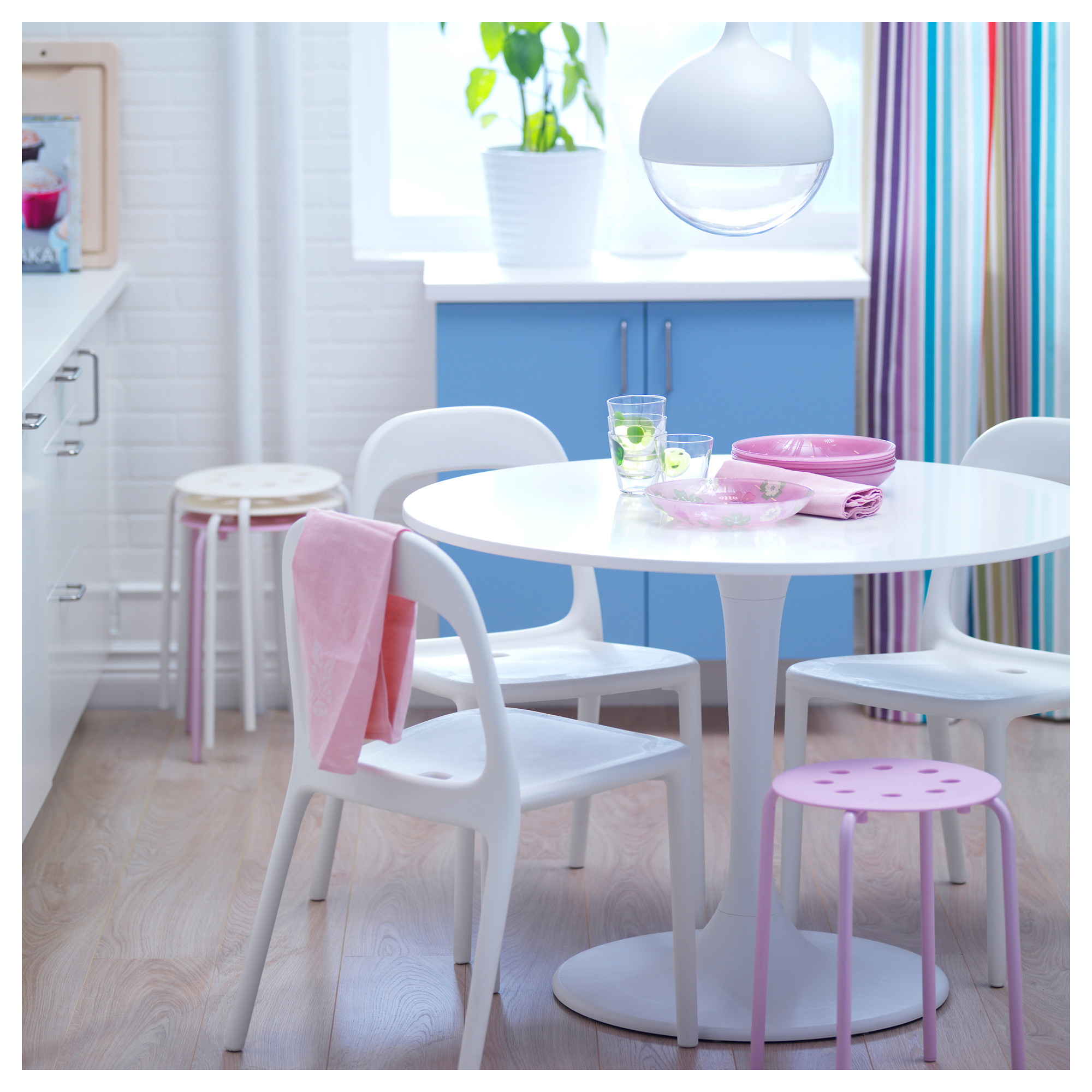 colorful kitchen table slide out modern ikea tulip homesfeed