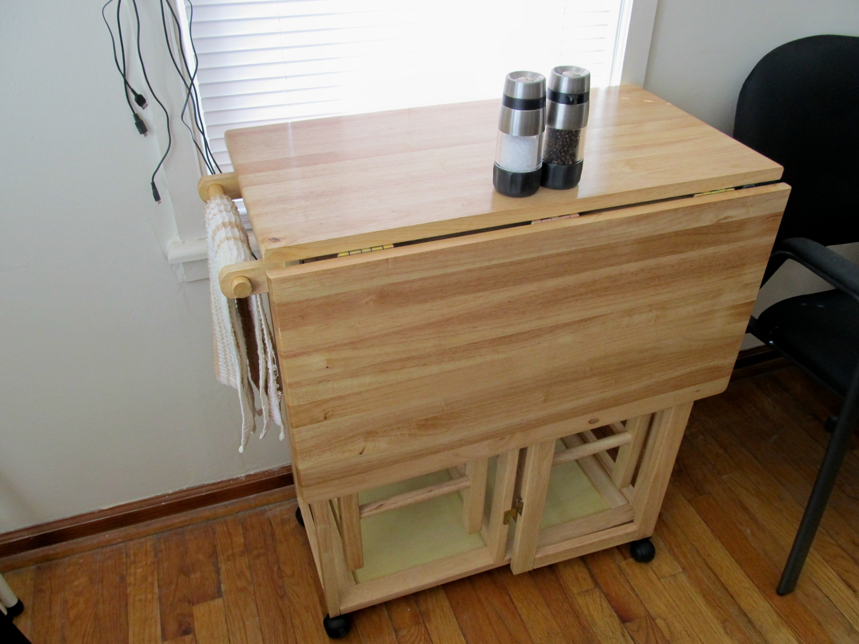 Adorable Drop Leaf Table with Chair Storage  HomesFeed