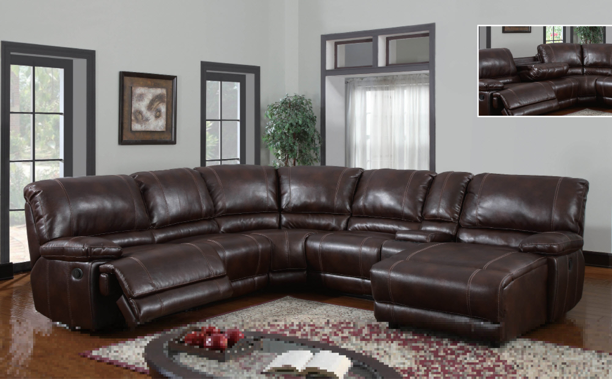 dark brown sectional sofa chaise paint best sofas with recliners and homesfeed