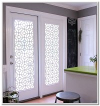 [covering glass cabinet doors with fabric] - 28 images ...