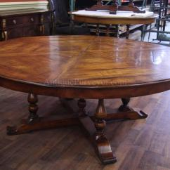 Large Round Oak Dining Table 8 Chairs Rustic Accent Perfect Person Homesfeed
