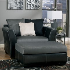 Black Leather Chair And A Half Loveseat Two Chairs Fresh Oversized For | Homesfeed