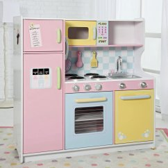Wooden Play Kitchen Sets Pink Good Wood Homesfeed