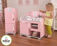 Modren Wood Play Kitchen Set Cooker Hob Childrens Pretend