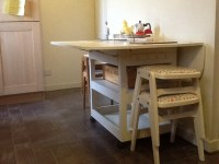 Adorable Drop Leaf Table with Chair Storage