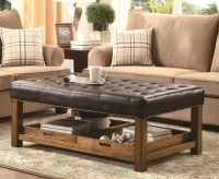 Unique and Creative! Tufted Leather Ottoman Coffee Table