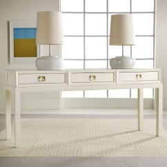 Modern White Sofa Table Leather Wood Lacquer Console Product Selections Homesfeed
