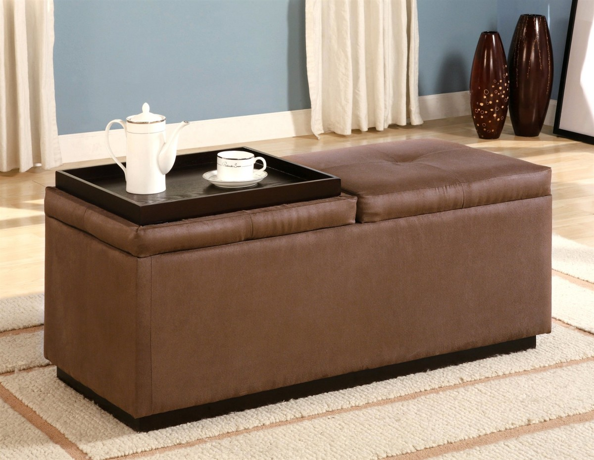 Tufted Ottoman Large Leather