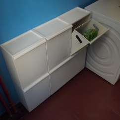 Kitchen Cabinet With Trash Bin Console Table Perfect Ikea Recycle Bins | Homesfeed