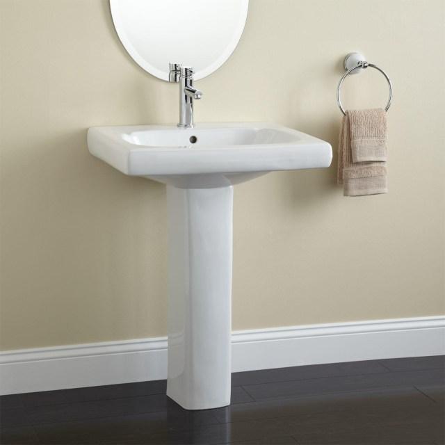 Modern Pedestal Sink Bathrooms To See r Image