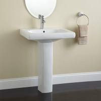 Modern Pedestal Sink With Towel Bar | HomesFeed