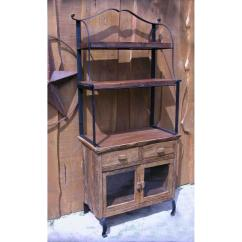 Bakers Racks For Kitchen Counter Height Sets Antique Wooden Rack Homesfeed