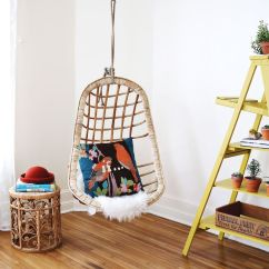 Swing Chair Transparent Teal Computer Chairs That Hang From The Ceiling | Homesfeed
