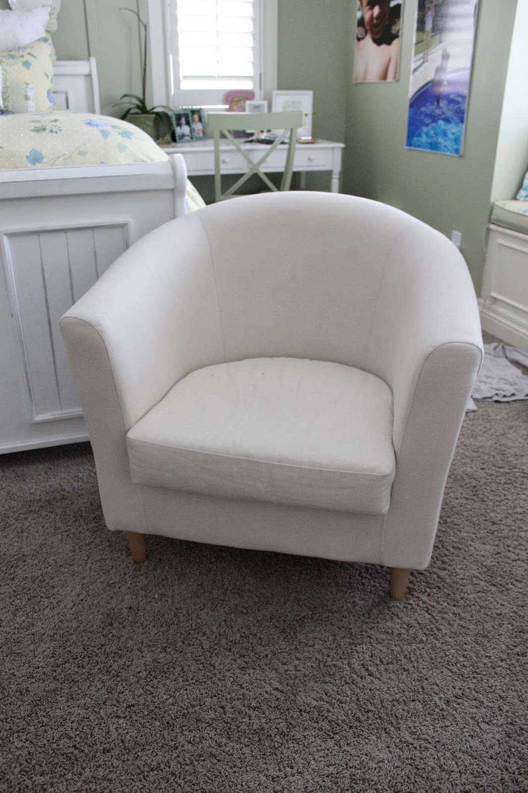 White Chair Slipcover Simple Barrel Chair Slipcovers Homesfeed