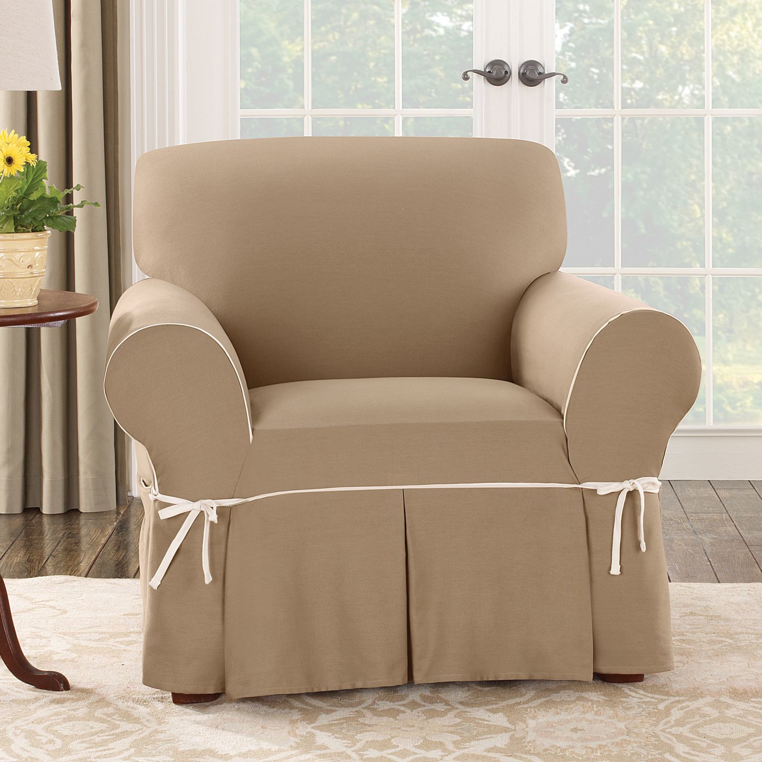 Slip Cover Chairs Simple Barrel Chair Slipcovers Homesfeed