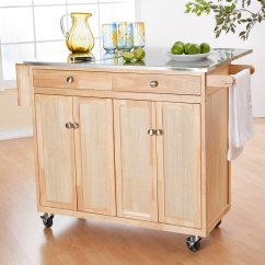 Kitchen Island For Small Spray Paint Cabinets Best On Casters Homesfeed