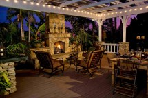 Back Yard with Outdoor Fireplace