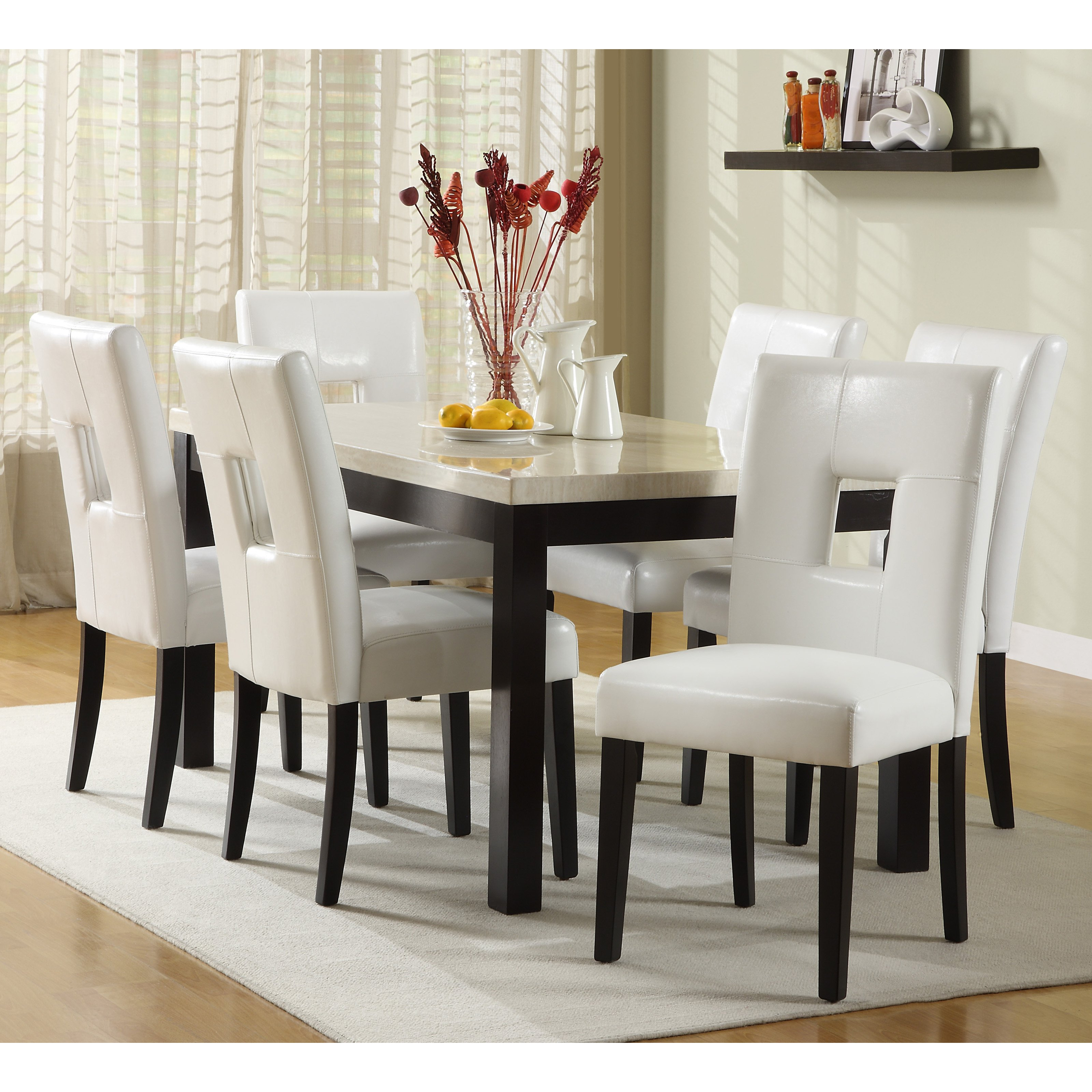white round dining room table and chairs french leather club chair beautiful kitchen homesfeed