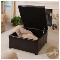 Large Square Storage Ottoman | HomesFeed