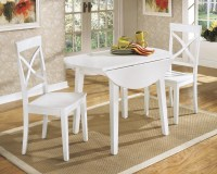 Beautiful White Round Kitchen Table and Chairs | HomesFeed