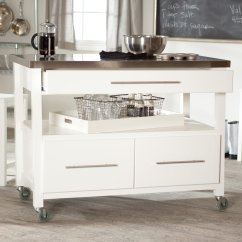 Small White Kitchen Island Table Best On Casters Homesfeed