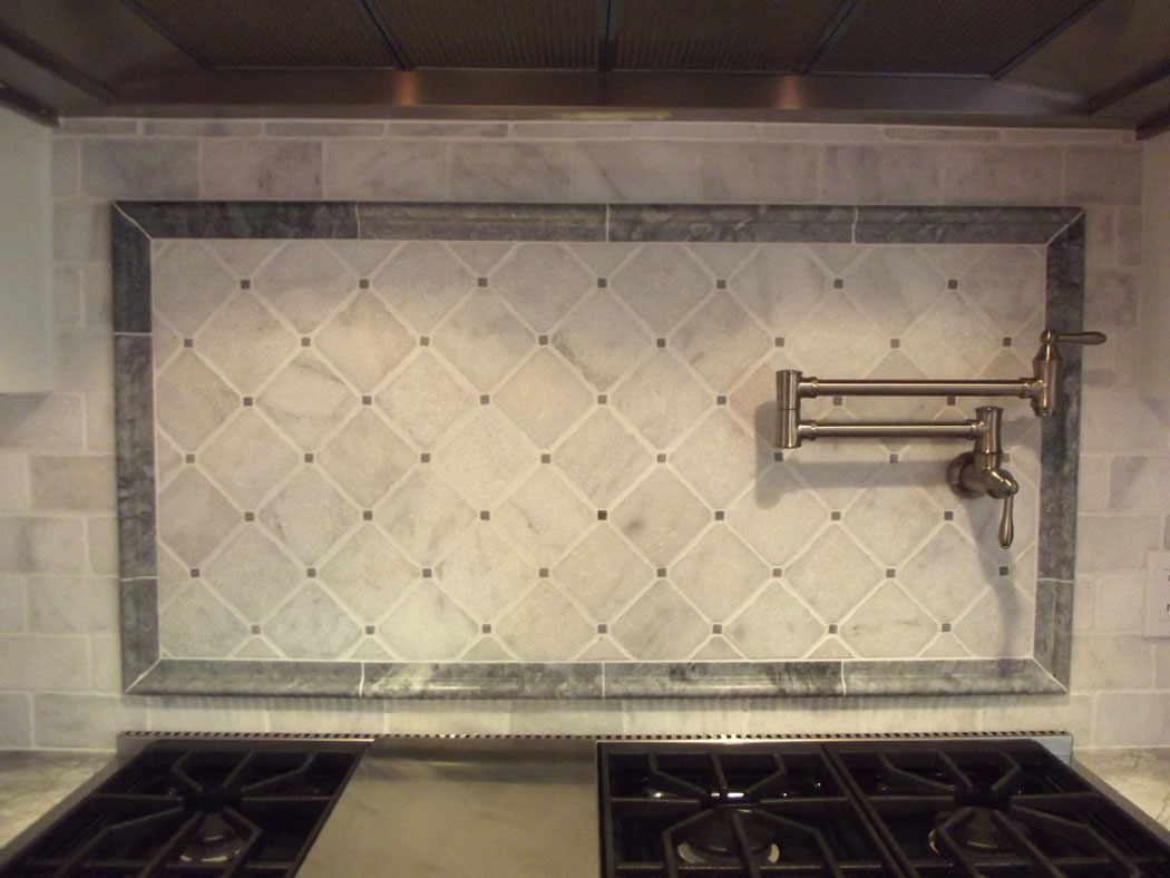 Carrara Marble Backsplash