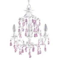 Pretty Pink Chandelier For Girls Room