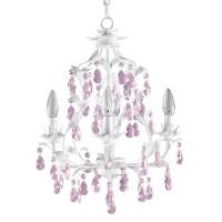 Pretty Pink Chandelier For Girls Room | HomesFeed