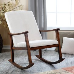 Wooden Rocking Chairs Nursery Red Bungee Chair Modern For Homesfeed