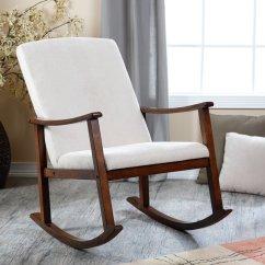White Wood Rocking Chair Nursery Steel Frame Suppliers Modern For Homesfeed