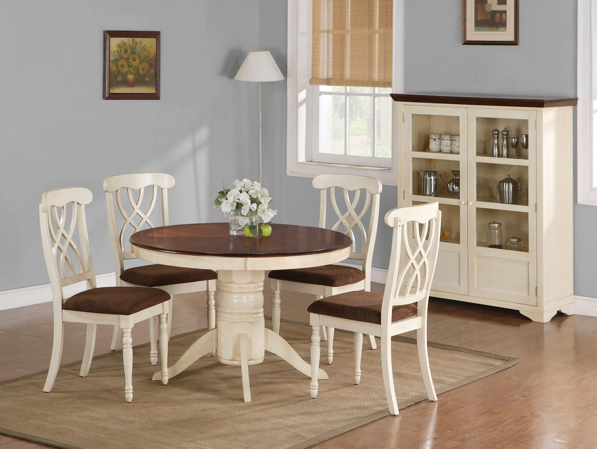 Kitchen Tables With Chairs Beautiful White Round Kitchen Table And Chairs Homesfeed