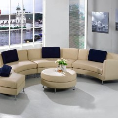Circular Couches Living Room Furniture Packages The Brick Keep Stylish And Stunning Only With A Piece Of Half Circle Couch In Cream Dark Blue Throw Pillows Round Cushioned Center Table
