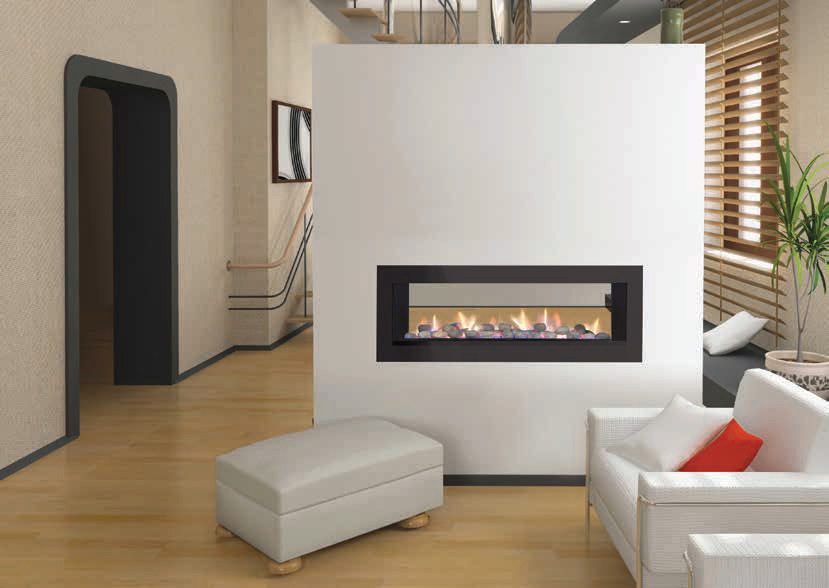 Double Sided Gas Fireplace: Warmer, Unique Room Divider