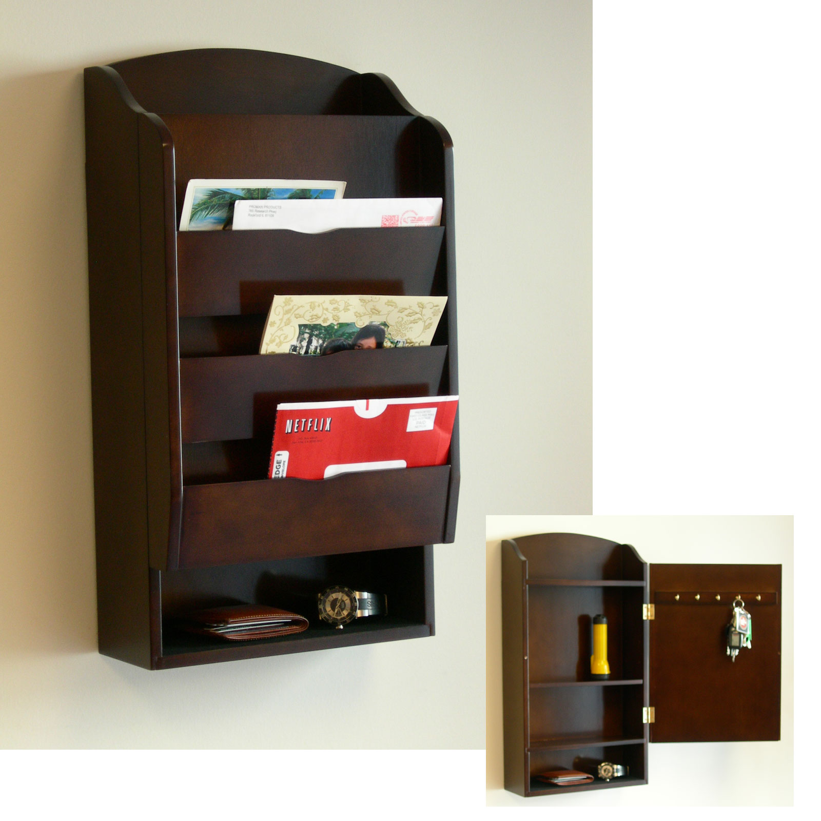 Wall Mounted Office Mail Organizer