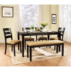 Kitchen Table Set With Bench Cabinet Granite Top Modern Style Dining Ideas Homesfeed Beige Cushioned Four Units Of Chairs Cushions