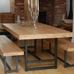 Kitchen Table With Bench And Chairs Sink Soap Dispenser Bottle Modern Style Dining Set Ideas Homesfeed Solid Wood Benches Wrought Iron Base A