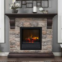 Stone Electric Fireplace for Modern Rustic Home Designs ...