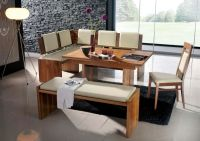 Modern Bench Style Dining Table Set Ideas