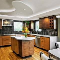 Two Tier Kitchen Island Luxury Outdoor Kitchens L-shaped Kitchen: Common But Ideal Designs   Homesfeed