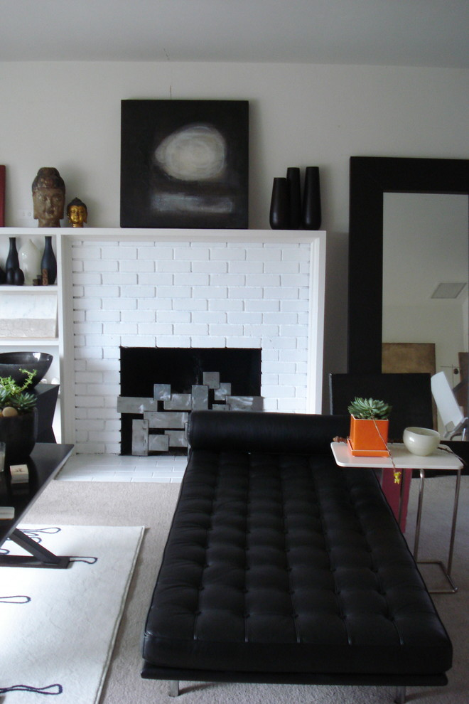 sofa paintings abstract leather manufacturers england 30 ideas of stylish white brick fireplace | homesfeed