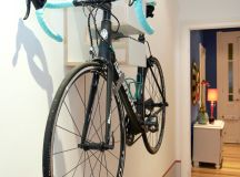 contemporary entry hall idea modern wall mounted bike rack in white