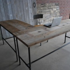 Distressed Leather Desk Chair Wood Table Metal Chairs Incredible Two Sided Office Desks For Stylish And Inviting Home Offices | Homesfeed