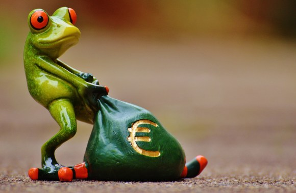 I will soon be this frog with loads of money!