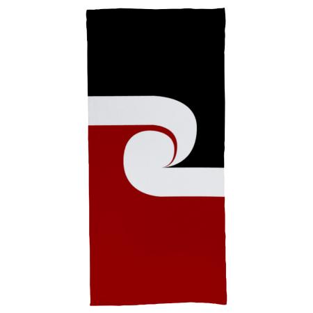 maori flag bath towel