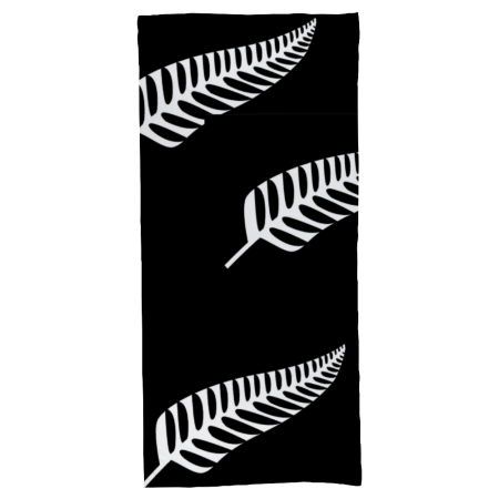 """Black and White Kiwi Fern Custom Bath Towel 27.5"""" x 55"""""""