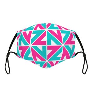 Adjustable Cloth Facemask NZZN Pink Aquamarine